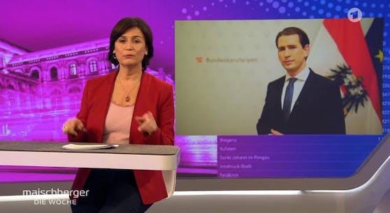"Bundeskanzler Sebastian Kurz in der Sendung ""Meischberger""."