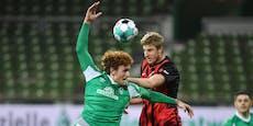 Frankfurt-Siegesserie endet mit 1:2-Pleite in Bremen