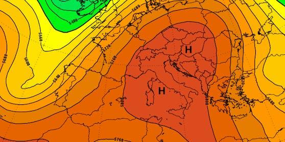 Wärmewelle in Europa.