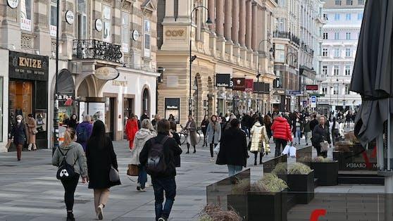 So voll war es in der Wiener City am Freitag