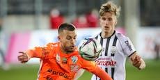 1:2! LASK-Bauchfleck im Heimspiel gegen Hartberg