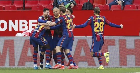 Lionel Messi sit der Barcelona-Matchwinner.