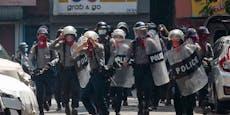 Brutale Härte der Polizei - 18 Tote bei Demo in Myanmar