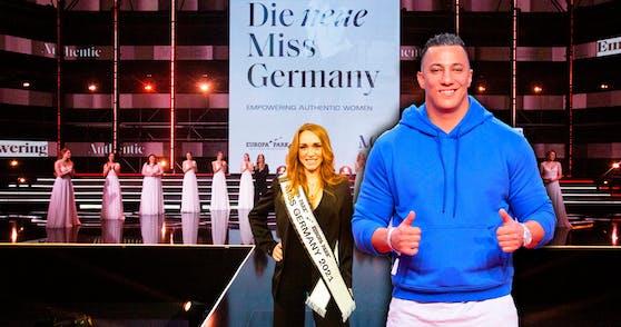 Anja Kallenbach ist die aktuelle Miss Germany. Das ist die Dame in der Mitte des Bildes. Aber irgendwie scheint das den meisten egal zu sein.