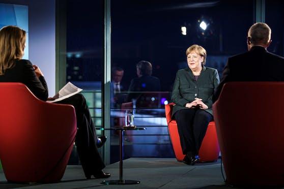 Angela Merkel im großen ARD-Interview.