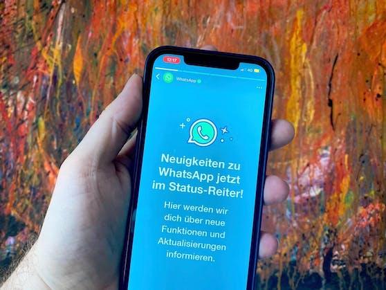 Im Messenger WhatsApp wird jetzt Eigenwerbung angezeigt.
