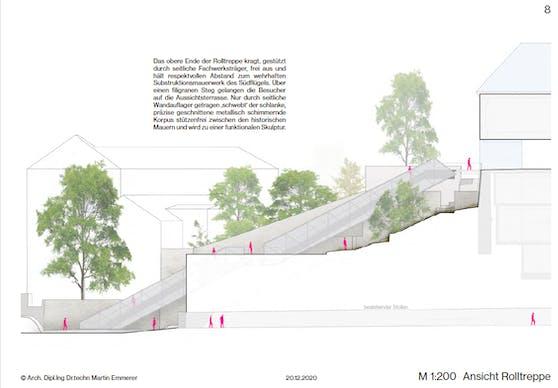 Schon bald soll eine Rolltreppe zum Linzer Schloss führen.