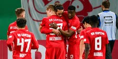 Leipzig dominant, Glasner zittert sich im Pokal weiter