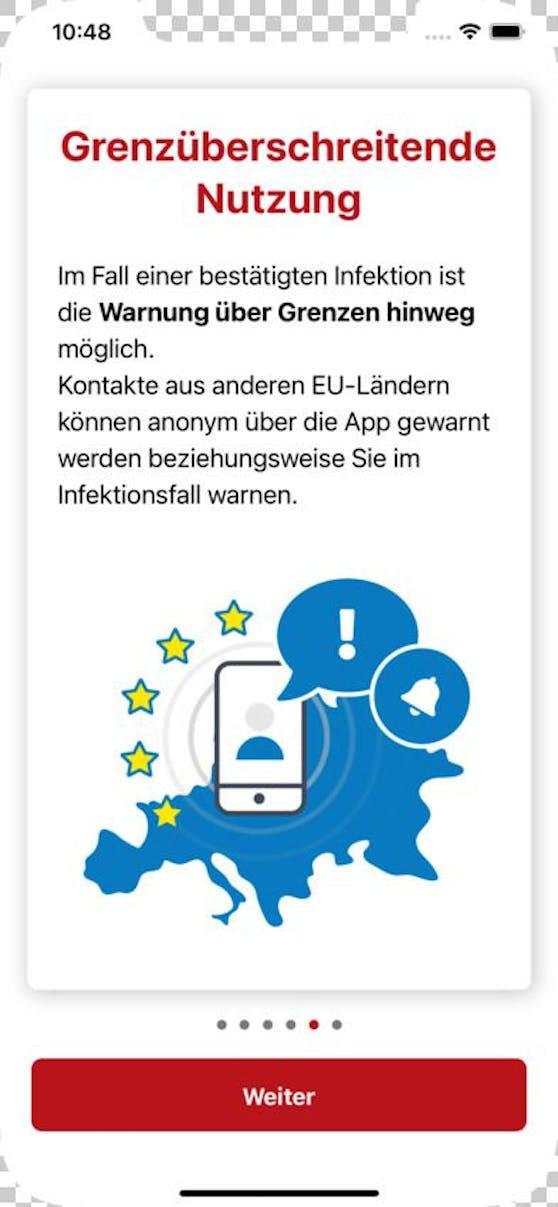 Stopp Corona-App warnt in der EU jetzt grenzüberschreitend.
