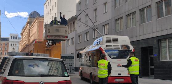 In der Wiener Innenstadt kam es am Donnerstag zu Verzögerungen