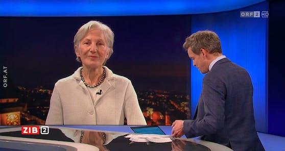 """Irmgard Griss zu Gast bei Martin Thür in der """"ZiB2"""" am 4. Februar 2021"""
