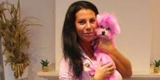 """Miriam (31) färbte das Fell ihres Hundes """"Chanel"""" pink"""