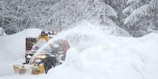 Nach Sturm rollt nun Schnee-Walze über Österreich