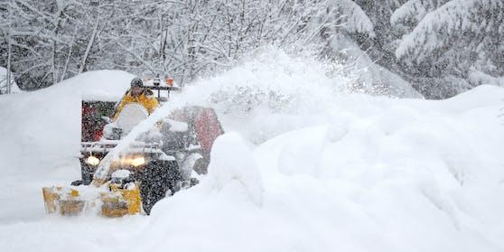 Bevor die Temperaturen in Österreich steigen, fällt am Montag noch einmal Schnee.