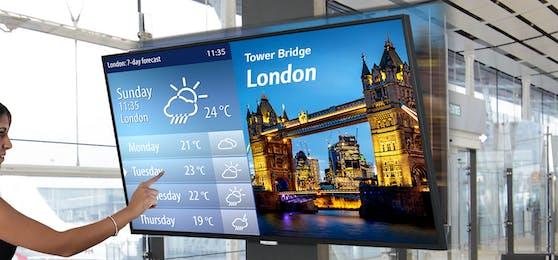 LG und Displax entwickeln Nachrüst-Kit für große Multitouch-Screens.