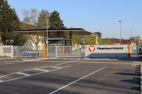 Der Fliegerhorst Voglerin der Kaserne Hörsching.