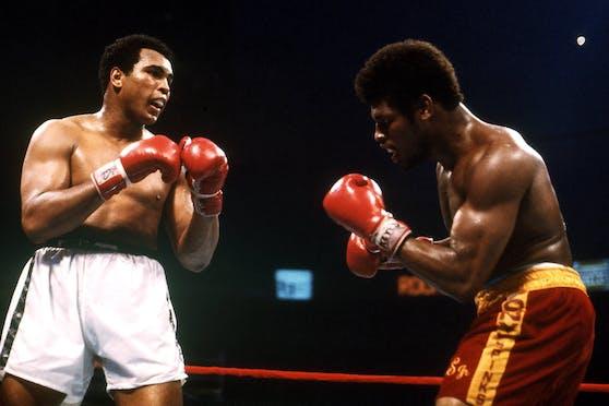 Muhammad Ali (links) und Leon Spinks traten 1978 zwei Mal gegeneinander an.