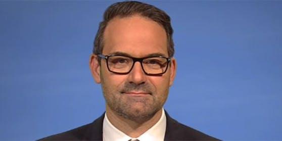 """Tirols Wirtschaftskammerpräsident Christoph Walser in der ORF-""""ZiB 2""""."""