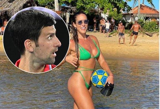 Novak Djokovic bekommt Hilfe beim Footvolley