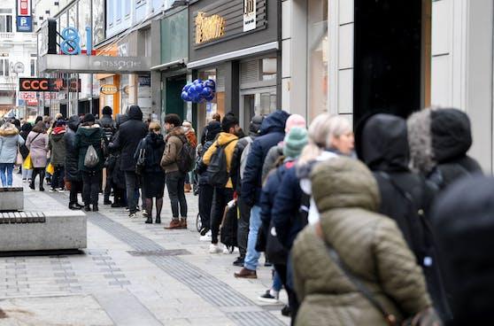 Der Shopping-Ansturm in Wien war am Montag groß.
