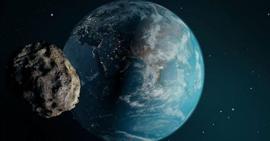 Ein Asteroid kommt der Erde im März gefährlich nahe.
