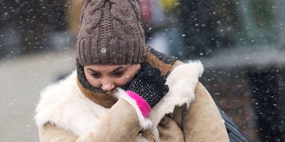 Klirrende Kälte in Österreich: Die Temperaturen bleiben weit unter 0 Grad.