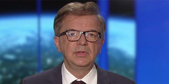 """Gesundheitsminister Rudolf Anschober in der ORF-""""ZiB 2""""."""
