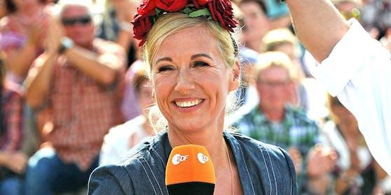 Andrea Kiewel bei der Moderation des ZDF-Fernsehgartens