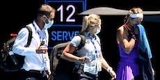 Große Sorge! Tennis-Star scheidet mit Atemnot aus
