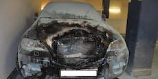 Auto in Wiener Tiefgarage abgefackelt