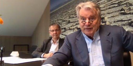 Hans Peter Haselsteiner (rechts) und Westbahn-Chef Erich Forster