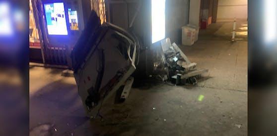 In Floridsdorf wurde ein Zigarettenautomat gesprengt