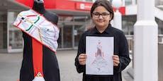 Abgefahren! Emine (12) entwirft Wiener-Linien-Kleid