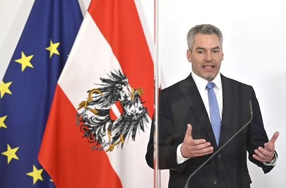 Innenminister Karl Nehammer (ÖVP) konnte weitere Ausnahmen aushandeln