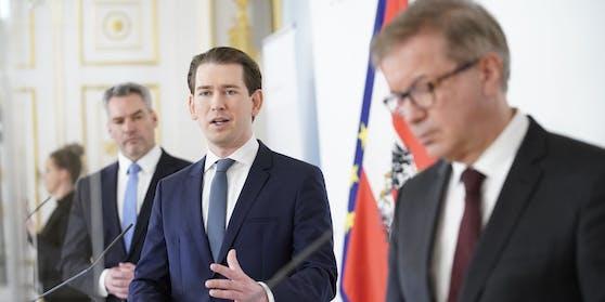 Kurz, Nehammer, Anschober: Ausreisetests für Tirol.