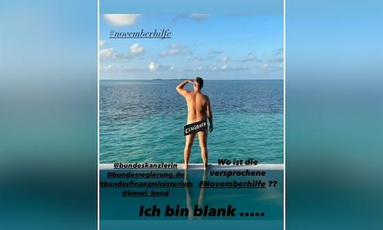 Mit einem provokanten Instagram-Posting machte sich Starkoch Tim Raue Luft.