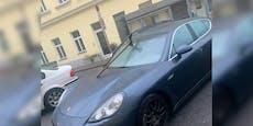 Porsche Panamera mit Doppelaxt demoliert