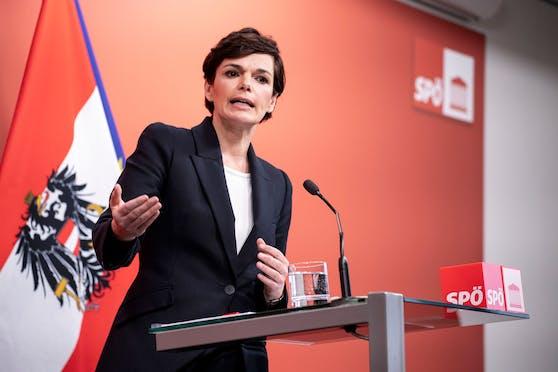 Pressekonferenz in Wien mit Pamela Rendi-Wagner zur aktuellen Corona-Entwicklung. (Archivbild)