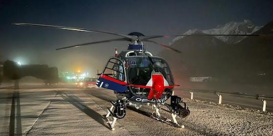 Mit diesen Hubschraubern wurde nach dem Verletzten gesucht.