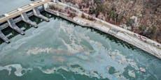 Umwelt-Alarm auf Donau, Feuerwehr im Großeinsatz