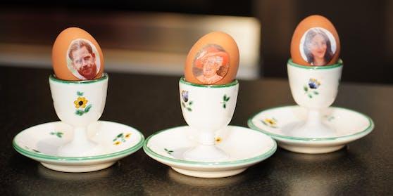 """Prinz Harry, """"Queen Richie"""" und Herzogin Meghan als """"Eierköpfe"""""""