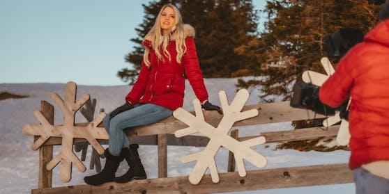 """Beatrice Körmer drehte das Video zu ihrem Weihnachtssong """"Once a year"""" schon jetzt."""