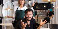 Unzufriedener Kunde biss Friseur in die Hand