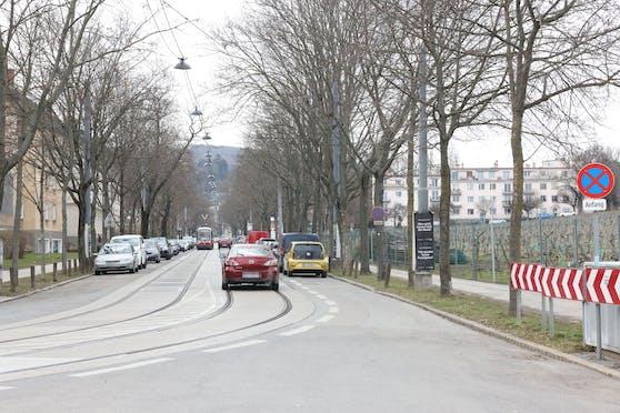 Stadtauswärts soll der neue Radstreifen errichtet werden.