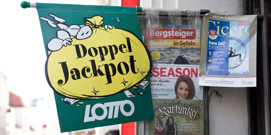 Es wartet ein Doppeljackpot im Lotto auf glückliche Gewinner. Archivbild