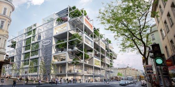 "Das grüne ""Ikea-hus"" am Westbahnhof."