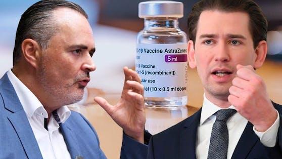 Doskozil und Sebastian Kurz verfolgen das selbe Ziel: Impfen, keine Lockdowns