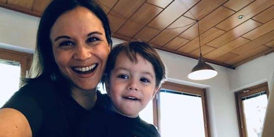 Romina Colerus mit Sohn Felix.