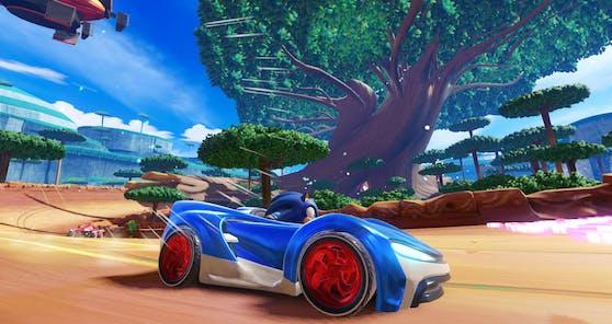 """""""Team Sonic Racing"""" feiert seinen Einstand auf Amazon Luna."""