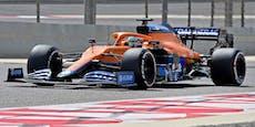 Ricciardo fährt Test-Bestzeit, Getriebe stoppt Mercedes